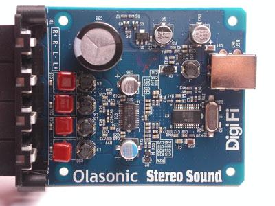 Olasonic USB DAC付デジタルパワーアンプ 上面